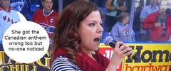 National Anthem Disasters: Alexis Normand forgets the words to the US anthem
