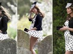 Kate Middleton does a Marilyn: Gust of wind that lifted Duchess of Cambridge's dress