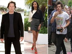 Keanu Reeves, Zoe Saldana and One Directions Harry Styles Lead Todays Star Sightings