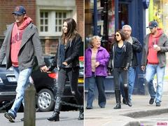 Mila Kunis and Ashton Kutcher Stroll London With Her Parents
