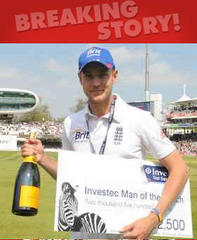 Broad's spell delights Cook